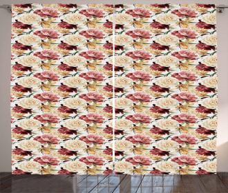 Country Bouquet Blossom Curtain