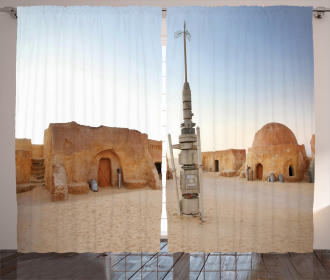 Planet Town Wars Image Curtain