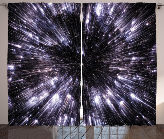 Universe Space Travel Curtain