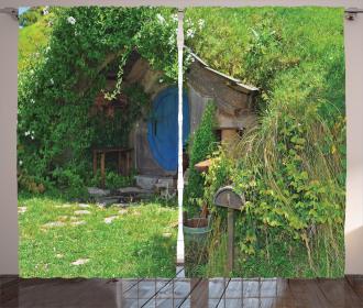 Fantasy Hobbit Land House Curtain