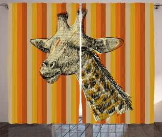 Hipster African Animal Curtain