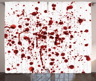 Splashes of Blood Scary Curtain