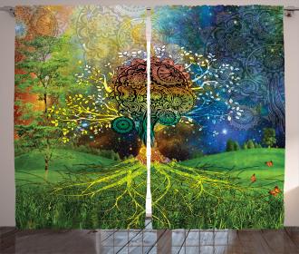 Mother Earth Zen Theme Curtain