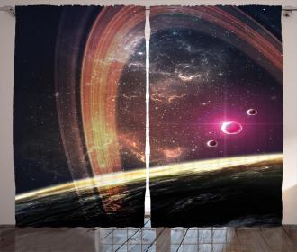 Nabula Dust with Stars Curtain