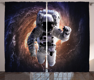 Astronaut in Outer Space Curtain