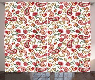 Style Rose Motif Curtain