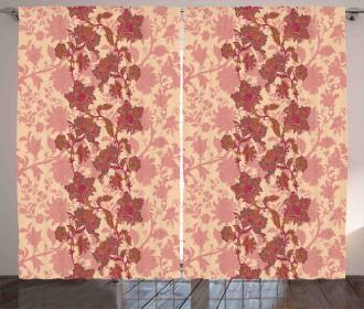 Vibrant Boho Flowers Curtain