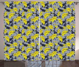 Contrast Tones Florets Curtain