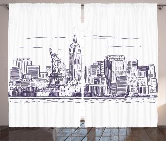 Sketchy NYC Island Curtain