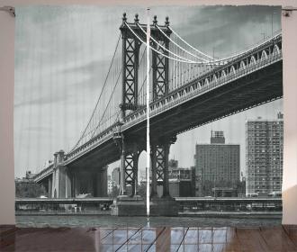 Bridge in New York City Curtain