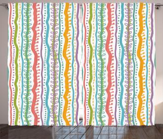 Vertical Swirl Lines Curtain