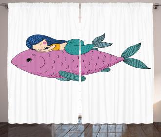 Baby Fish Kids Nursery Curtain