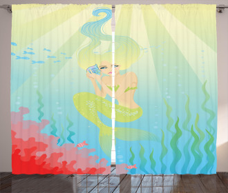 Unusual Mermaid Shell Curtain
