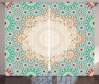 Antique Floral Mosaic Form Curtain