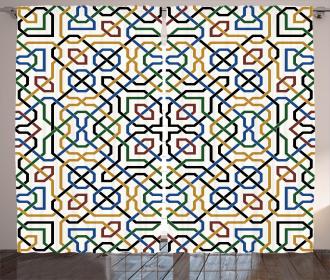Arabic Marrakesh Motif Curtain