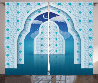 Arabic Signs at Night Curtain