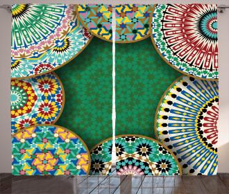 Oriental Hippie Motif Curtain