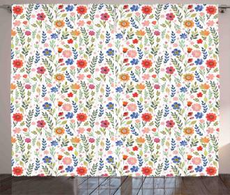 Soft Colored Floret Curtain
