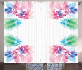 Digital Bridal Flowers Curtain