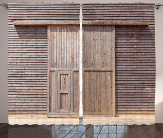 Old Wooden Timber Curtain