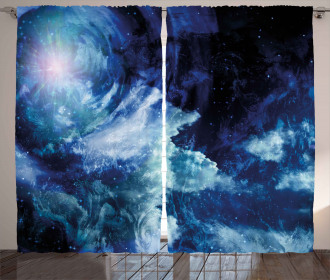 Universe Spiral Galaxy Curtain