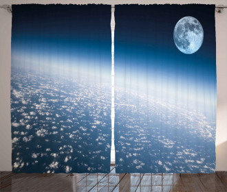 Planet Earth and Moon Curtain