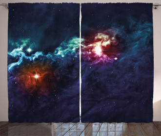 Cosmos Galactic Star View Curtain