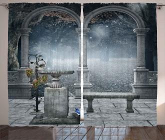 Fictional Mythic Stones Curtain