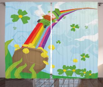 Shamrock Festive Curtain