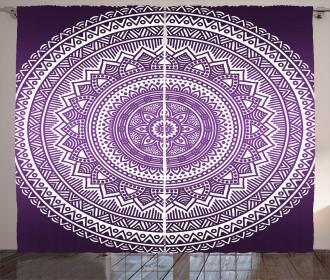 Mandala Floral Boho Curtain