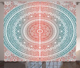 Antique Mandala Curtain