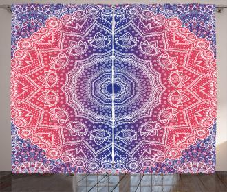 Hippie Ombre Boho Asian Curtain