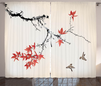 Romantic Spring Theme Curtain
