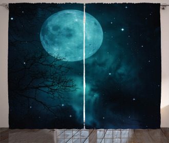 Outer World Cosmos Moon Curtain