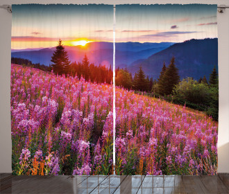 Spring Mountains Floral Curtain