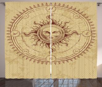 Antique Roman Sun Stone Curtain