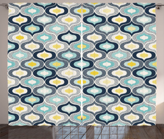 Morrocan Style Dots Art Curtain