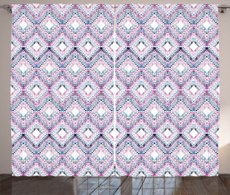Abstract Tribal Pattern Curtain