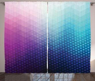 Geometric Fractal Triangle Curtain