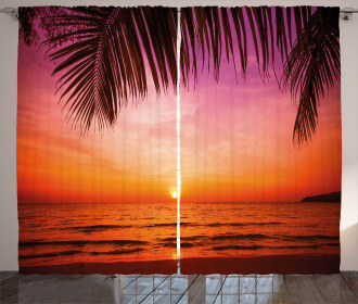 Coconut Palm Tree Leaf Curtain