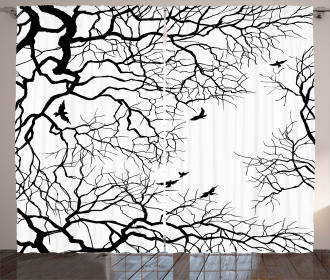 Twiggy Tree Branches Curtain
