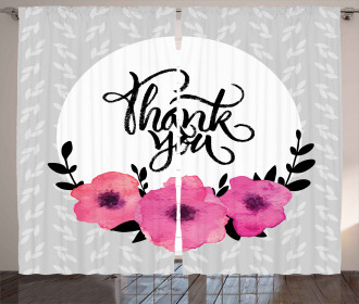 Thank You Quote Rounded Curtain