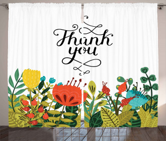 Hand Writing Thank You Curtain