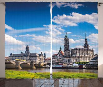 European Ancient Town Curtain