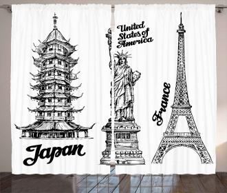 Japan Paris Building Curtain