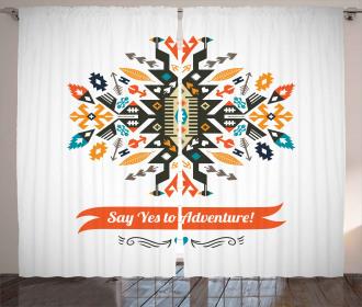 Ethnic Design and Quote Curtain