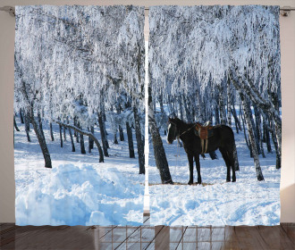 Winter Forest Theme Curtain