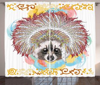 Primitive Feathers Ethnic Curtain