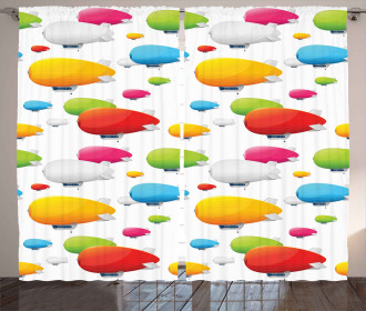 Colored Aviation Plane Curtain