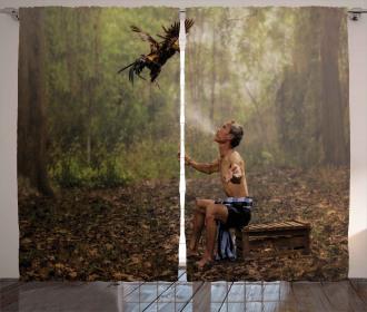 Asian Forest Birds Eco Curtain
